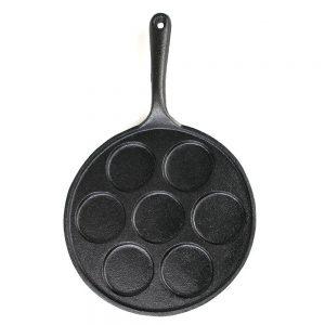 Bei der Big-BBQ-Pancake-Pfanne ist alles aus Gusseisen.